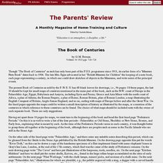 Parent's Review article on how to do a Book of Centuries