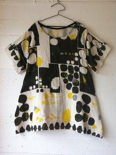 dress 66 materials: Japanese double gauze cotton pattern: own  ...shared by Vivikene