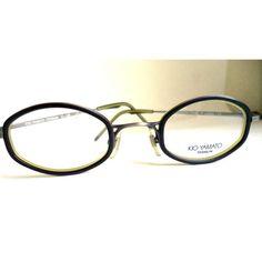 e9724b9143 New Kio Yamato Eyeglasses UNISEX Black Titanium IC-106 Silver Glasses Japan