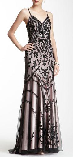 Sue Wong Sleeveless Beaded Dress. Looks like it belongs on downton abbey