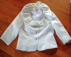 Vintage suit white wedding maxi skirt NWT Med bling made in USA  #Nicolette #SkirtSuit