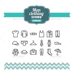 Hand Drawn Man Clothing Icons