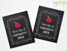 First day of Kindergarten sign First day of by SugarPickleDesigns, $8.00