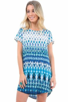 Chasing Kate Annabelle Shift Dress in Aqua Print $45.90 CHASING KATE by St. Frock is our first exclusive range designed in house by us, for you. Years of experience and expertise dressing women has been channelled into our range of feminine wardrobe essentials designed to fit, flatter and flaunt your figure. This collection has been tailored and tested to fit like a dream. Whether you're petite, voluptuous or anywhere in between, we have created a wide range of shapes and styles to make…