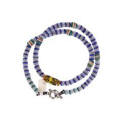 Krobo, Flat Ended, Millefiori Necklace #1348 | Necklaces | Jewelry — Deco Art Africa - Decorative African Art - Ethnic Tribal Art - Art Deco...