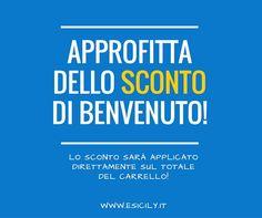 Per ringraziarvi della fiducia che ci state dando in questi primi giorni, #esicily  ha deciso di darvi uno #sconto  di benvenuto a chi si registrerà per questo primo mese! #italianfood   #food   #sicilia   #sicily   #italy   #italia   #foodporn   Seguiteci su facebook  / Follow us on #facebook  : http://bitly.com/196fdI0 Visitate il nostro #sitoweb  / Visit our #website  : http://www.esicily.it/