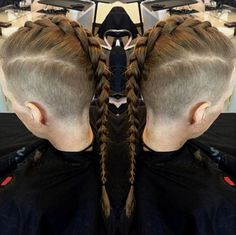men's braided Mohawk