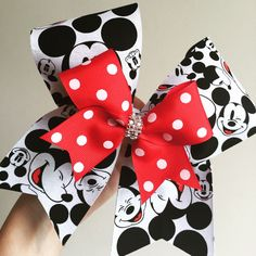 Deluxe Mickey Mouse Cheer Bow with mini bow by TalkToTheBow