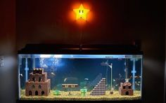 See How This Awesome Mario-Inspired Fish Tank Was Made