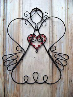 Potěšení z drátků. a nejenom z nich Wire Hanger Crafts, Wire Crafts, Diy And Crafts, Arts And Crafts, Wire Jewelry Making, Wire Wrapped Jewelry, 3d Drawing Pen, Christmas Trimmings, Wire Wreath Forms