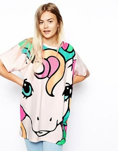 Buy ASOS Tunic Top with My Little Pony Glitter Print at ASOS. With free delivery and return options (Ts&Cs apply), online shopping has never been so easy. Get the latest trends with ASOS now. Pastel Fashion, Retro Fashion, Gyaru Fashion, Sweet Fashion, Asos, Girly, Cyberpunk, Rockabilly, Harajuku
