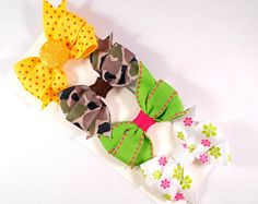 Baby hair bows, infant hair clips, toddler cameo hairbows, set 4 tiny hairclips, glitter pinwheel baby girl bow, handmade 2.5 inch clippies