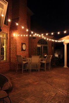 outdoor patio lighting...I LOVE these lights, have always wanted an outdoor space to hang some!