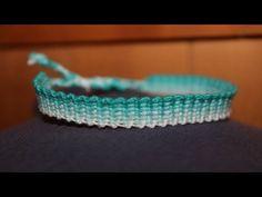 """""""Knitted"""" Friendship Bracelet Tutorial - YouTube"""