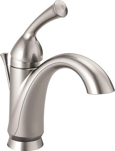 Delta Brushed Nickel Bathroom Faucets Elegant Delta Faucet Haywood Single Handle Bathroom Faucet with Diamond Seal Technology and Drain assembly Stainless Ss Dst