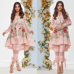 Immerse Yourself in the Most Luxurious Embroidered Party Wear! Price: For purchase of the dress, please visit www. Pakistani Fashion Casual, Pakistani Wedding Outfits, Pakistani Dresses Casual, Pakistani Dress Design, Indian Dresses, Indian Outfits, Indian Fashion, Frock Fashion, Fashion Dresses
