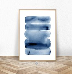 Watercolour Wall Art Print Abstract Painting Modern