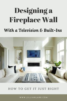 Designing the focal wall of your living room with a fireplace and built-ins can be tricky. There are many decisions to make and details to get just right. This post addresses some of the common mistakes homeowners make and how to get your fireplace wall just right.