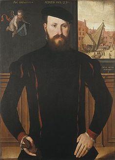 Pieter Pourbus Portrait Jan van Eyewerve (1551) Groeningemuseum de Bruges.