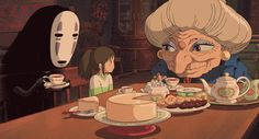 Sponge cake from Spirited Away. | Here's How To Eat Everything You've Ever Wanted From A Miyazaki Film