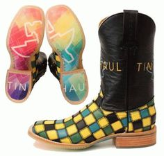 Tin Haul Ladies Checkerboard Boot. Available at Frontier Western Shop - www.westernshop.com