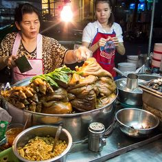 bangkok silom, thai street food   - Explore the World with Travel Nerd Nici, one Country at a Time. http://TravelNerdNici.com