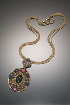 ANN MILLER ESTATE YSL COUTURE NECKLACE --- 1970s