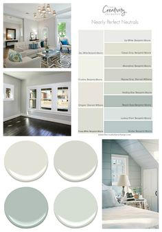 Nearly Perfect Neutral Paint Colors. nearly perfect neutral paint colors. No color is perfect but there are many nearly perfect neutral paint colors that work consistently well and in a variety of lighting situations. Interior Paint Colors For Living Room, Paint Colors For Home, Living Room Colors, Home Interior Colors, Wall Paint Colours, Beachy Paint Colors, Neutral Living Room Paint, Relaxing Bedroom Colors, Small Bedroom Paint Colors