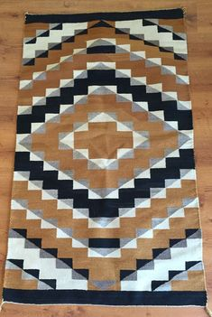 "Circa1940′s Vintage Navaho Weaving 35 ""x 61″ Antique Navajo Rug Textile by BlindSquirrelTrading on Etsy:"