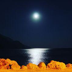 #fullmoon in #sougia! #beach #summer #travel #nature #vacation #landscape #holidays #Crete #Kreta