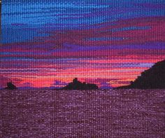 """Lyn Hart, """"desert island - espiritu santo"""" x Tapestry Weaving, Loom Weaving, Hand Weaving, Woven Image, Cool Tapestries, Contemporary Tapestries, Landscape Elements, Fibre And Fabric, Textiles"""