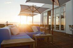 Beautiful sunset at boutique hotel Vesper in Noordwijk, Zuid-Holland.