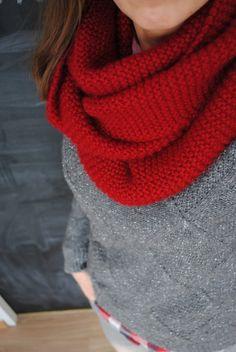 Allé, si je me motive, je la tente, à tricoter (mais seulement si la laine est effectivement ultra-douce...) Snood baby alpaga chunky Une souris dans mon dressing