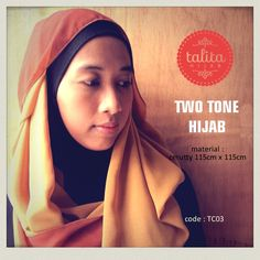 Two Tone : Earth Brown & Butter Yellow - square #hijab