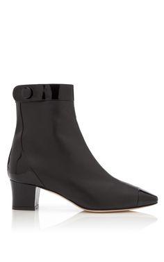 Shop Antra Patent Leather Ankle Boots by Oscar de la Renta Now Available on Moda Operandi