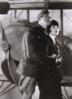 Clara Bow & Buddy Rogers in   Wings (1927)