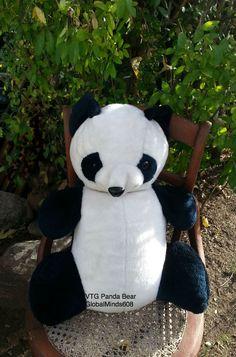 Large Jumbo Panda Teddy Bear Plush Stuffed Animal ~20 in Vintage Pillow Pet #Unbranded