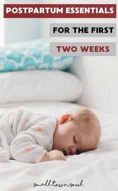 These are all of the postpartum essentials that you need for the first two weeks!