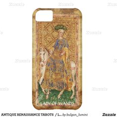 ANTIQUE RENAISSANCE TAROTS  / LADY OF WANDS iPhone 5C CASE