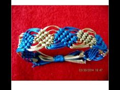 ▶ Pulseras macramé rombos bicolor nudos corredizos bracelets with diamonds - YouTube