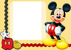 Mickey Mouse Printable Invitation Cards