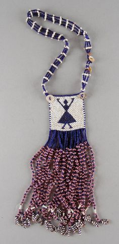 South Africa | Necklet; glass beads, fiber, pearl shell buttons | ca. 1933 or earlier | Possibly made by the Xhosa (Tsolo, Eastern Cape) or (Griqualand East, KwaZulu Natal) people