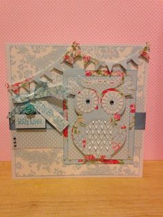 Handmade Happy Birthday owl card
