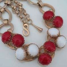 Vtg 1960's Haute Couture Henkel & Grosse Glass  Necklace