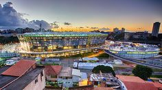 Vista do estádio Arena Fonte Nova, em Salvador (BA)