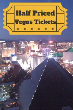 Half Off Tickets In Las Vegas I never pay full price for a show in Las Vegas. I'm guessing you are like me and would love half price tickets to shows in Las Vegas without standing in line? Just try one of these discount websites! Goldstar has awesome... #lasvegas #lasvegasnevada #lasvegasstrip