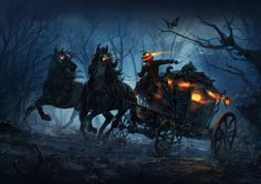 Evil Carriage, K G on ArtStation at https://www.artstation.com/artwork/qbKBL