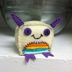 Small Plush Felt Monster by OffTheMapMonsters on Etsy, $15.00