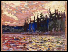 Tom Thomson, Sunset by Lake, date unknown - Art Gallery of Ontario | West Wind