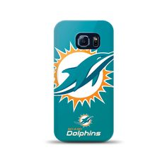 Samsung Galaxy S6 Edge Nfl Oversized Snapback Tpu Case Miami Dolphins